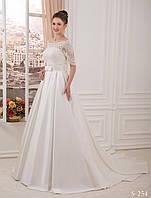 Идеальный свадебный комплект с кружевным болеро и карманами