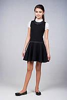 Школьный  сарафан для девочки черный, синий, серый