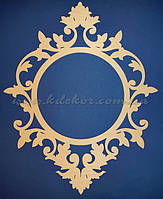 Рамка ажурная круглая заготовка для декора