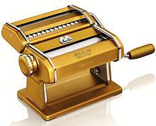 Паста-машина для приготовления лапши и нарезки теста (лапшерезка) Marcato Atlas 150 золотая Италия