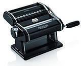 Паста-машина для приготування локшини і нарізки тіста (локшинорізка) Marcato Atlas 150 Nero, чорна, фото 4
