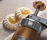 Кондитерский шприц для печенья Marcato Biscuits Argento с 20 насадками (Италия), фото 4