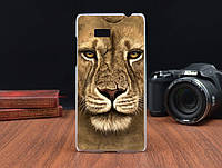 Чехол бампер HTC Desire 600 606 гибкий пластик лев