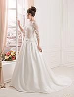 Королевское свадебное платье со вшитыми чашечками и нежным полупрозрачным корсетом