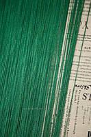 Шторы  нити  однотонные зеленые изумруд №211, фото 1
