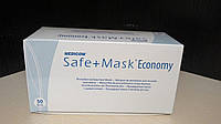 Маска процедурная медицинская Safe+Mask Economy с ушными петлями, 50 шт/уп