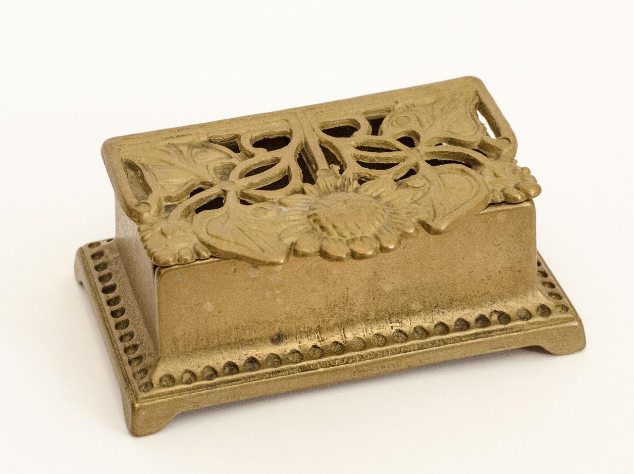 Старая бронзовая шкатулка, для колец, бронза, Германия