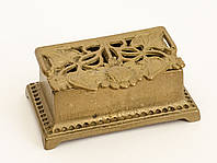 Старая бронзовая шкатулка, для колец, бронза, Германия, фото 1