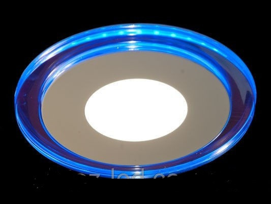 LED панель Lemanso 18+6W с синей подсветкой 4500K круг / LM498