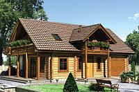 Дом клееный брус, финский домик, недорогой дом, дачный домик