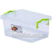 Пластиковый контейнер с крышкой для микроволновки и холодильника 1.5 л