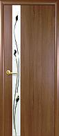 """Двери межкомнатные Новый Стиль """"Злата De luxe""""  Рисунок 1 золотая ольха (глухое)"""