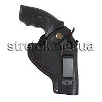 Кобура для револьвера 3 поясная со скобой кожаная