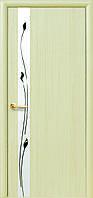 """Двери межкомнатные Новый Стиль """"Злата De Luxe""""  Рисунок 1 ясень (глухое)"""
