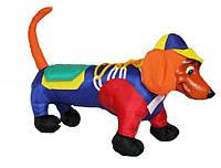 Развивающая игрушка Такса - коврик для развития, шнуровка.