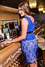Платье женские с баской, батал, фото 4