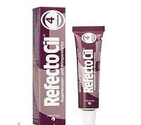 RefectoCil №4 Chestnut - краска для бровей и ресниц (каштановая), 15мл
