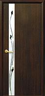 """Двери межкомнатные Новый Стиль """"Злата De Luxe""""  Рисунок 1 каштан (глухое)"""