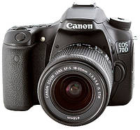 "CANON EOS 70D+18-135 IS STM 3""/20,2MPx/ISO:100-12800/CMOS/VIDEO FULL HD/AK-LION LP-E6/WI-FI, фото 1"