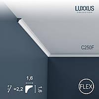ORAC Decor C250F LUXXUS гибкий карниз угловой молдинг лепнина из полиуретана потолочный багет 2 м