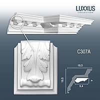 ORAC Decor C307A LUXXUS лепнина из полиуретана декоративный элемент лист аканта для карниза C307