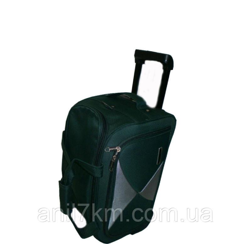 Малая дорожная сумка(48см.) ручная кладь на силиконовых колёсах фирмы MERCURY