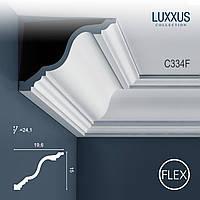 ORAC Decor C334F LUXXUS гибкий карниз потолочный багет лепнина изполиуретана угловой молдинг 2 м