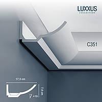 ORAC Decor C351 LUXXUS карниз для скрытого освещения потолочный багет угловой молдинг лепнина из полиуретана 2 м