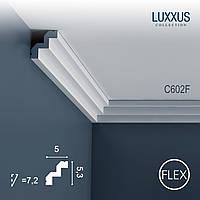 ORAC Decor C602F LUXXUS гибкий карниз лепнина молдинг из полиуретанаострый краевой профиль 2 м
