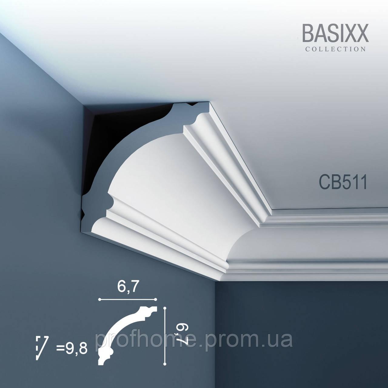 ORAC Decor CB511 BASIXX потолочный багет карниз угловой молдинг лепнина из полистирола 2 м - Товары для косметического ремонта Премиум класса из Германии. в Германии