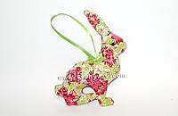 Handmade - Мягкая игрушка ручной работы, подвесной заяц, цветочные мотивы