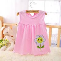 Платье детское 6-18 мес Цветок розовое