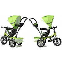 Зеленый  трехколесный детский байк