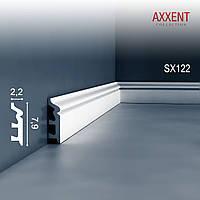 ORAC Decor SX122 AXXENT плинтус напольный для скрытой проводки молдинг из дюрополимера 2 м