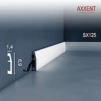 ORAC Decor SX125 AXXENT плинтус напольный для скрытой проводки молдинг из дюрополимера 2 м
