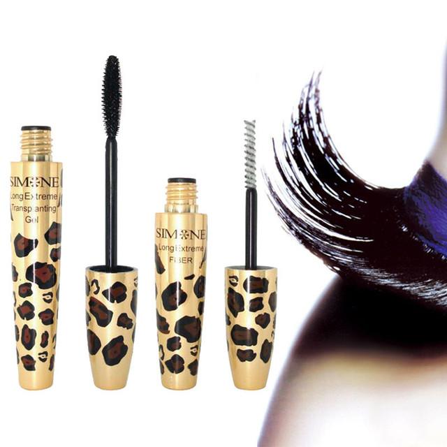Набор для макияжа Simone Long Extreme Черная тушь + 3 d кисть из натуральных волокон для подкручивания ресниц
