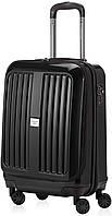 Удобный черный чемодан на 4-х колесах HAUPTSTADTKOFFER xberg mini black, пластик, 42 л.