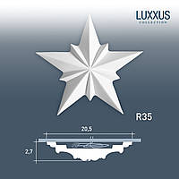 ORAC Decor R35 LUXXUS потолочная розетка лепнина из полиуретана | диаметр 22 см