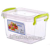 Пластиковый пищевой судок с крышкой 0.3 л