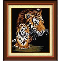 "Набор алмазной живописи ""Тигрица и тигренок"""
