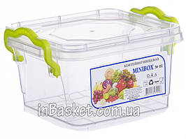 Пищевой судок с крышкой для холодильника и микроволновки 0.4 л