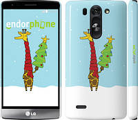 "Чехол на LG G3s D724 Жираф и ёлка ""1265m-93"""