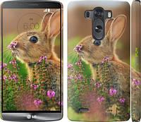 """Чехол на LG G3 D855 Кролик и цветы """"3019m-47"""""""