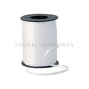 Лента декоративная оформительская, тесьма для шариков, цвет: белая, ширина: 5 мм, длина: 230 метров
