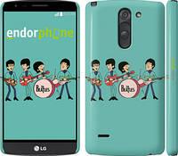 "Чехол на LG G3 Stylus D690 Битлз на бирюзовом фоне ""179m-89"""