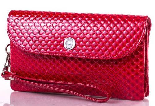 Женский красный кожаный клатч KARYA (КАРИЯ) SHI1121-1KAP