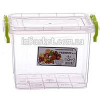 Пластиковый контейнер с крышкой для холодильника и микроволновки 1.4 л