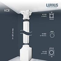 ORAC Decor KC6 LUXXUS полная колонна каннелированная лепнина из полиуретана | 2,86 м