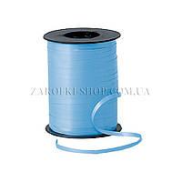 Лента декоративная оформительская, тесьма для шариков, цвет: голубая, ширина: 5 мм, длина: 230 метров