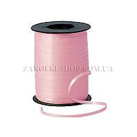 Лента декоративная оформительская, тесьма для шариков, цвет: розовая, ширина: 5 мм, длина: 230 метров